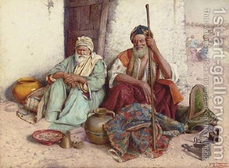 Arab Merchants by Giuseppe Signorini - Reproduction Oil Painting