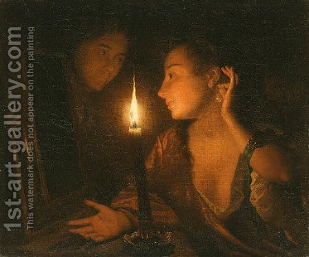 Untitled by Godfried Schalcken - Reproduction Oil Painting