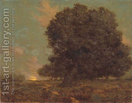 A Canyon Oak by Granville Redmond - Reproduction Oil Painting