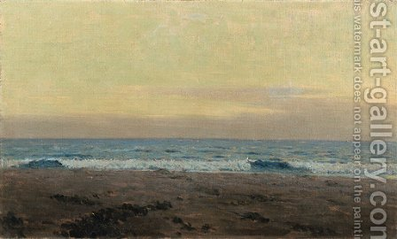 Evening Surf (Long Beach) by Granville Redmond - Reproduction Oil Painting