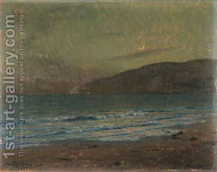 Moonlit Surf by Granville Redmond - Reproduction Oil Painting