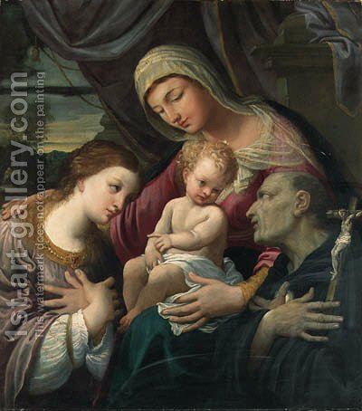 The Madonna and Child with Saints Mary Magdalene and Hyacinth by Guido Reni - Reproduction Oil Painting