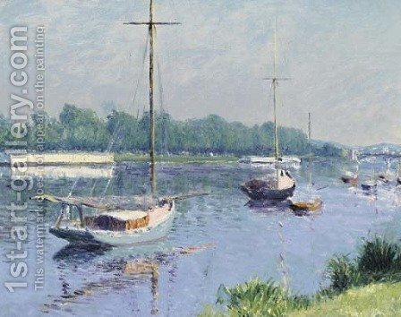 Le bassin d'Argenteuil by Gustave Caillebotte - Reproduction Oil Painting