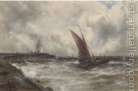 Squally weather off Gorleston by Gustave de Breanski - Reproduction Oil Painting