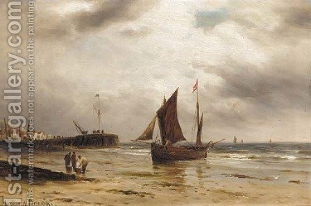 Sorting the catch by Gustave de Breanski - Reproduction Oil Painting