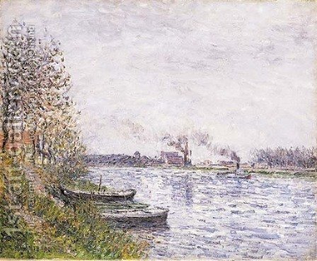 Bord de l'Oise by Gustave Loiseau - Reproduction Oil Painting