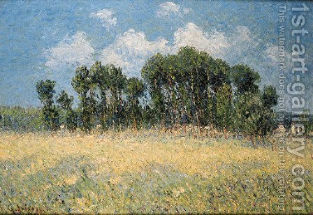 La prairie devant les peupliers by Gustave Loiseau - Reproduction Oil Painting