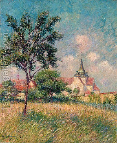 Le Village champs pres de l'eglise by Gustave Loiseau - Reproduction Oil Painting