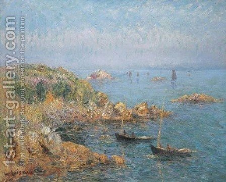 Marine, baie de Douarnenez by Gustave Loiseau - Reproduction Oil Painting