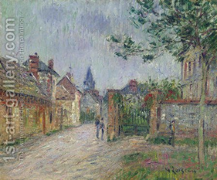 Scene de village by Gustave Loiseau - Reproduction Oil Painting