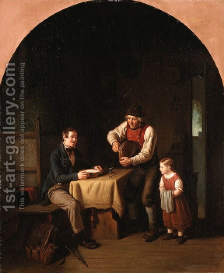 Mealtime by Hanno Rhomberg - Reproduction Oil Painting