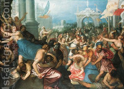 The Rape of the Sabines by Hans I Rottenhammer - Reproduction Oil Painting
