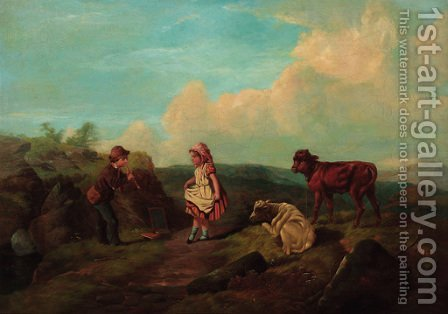 Her First Steps by Harden Sidney Melville - Reproduction Oil Painting