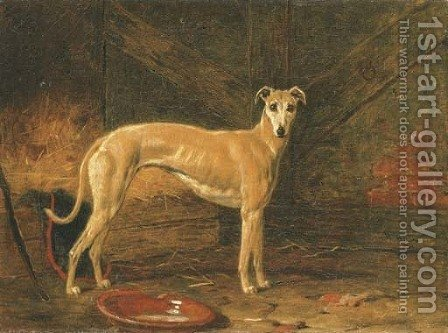 Coomassie, winner of The Waterloo Cup in 1877 and 1878 by Harry Hall - Reproduction Oil Painting