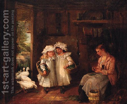 The Pea Sellers by Haynes King - Reproduction Oil Painting