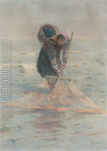 The shrimper 2 by Hector Caffieri - Reproduction Oil Painting