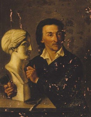 Reproduction oil paintings - Hermann David Solomon Corrodi - Portrait of a sculptor, said to be Bertel Thorwaldson