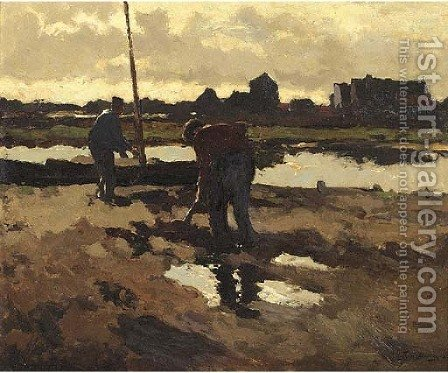 Diggers at work by Hendrik Frauenfelder - Reproduction Oil Painting