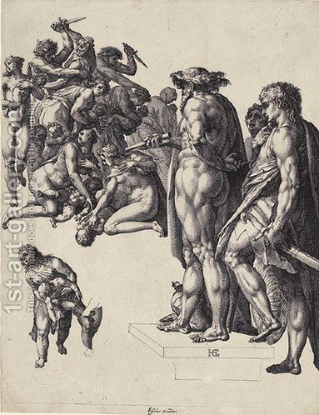 The Massacre of the Innocents by Hendrick Goltzius - Reproduction Oil Painting