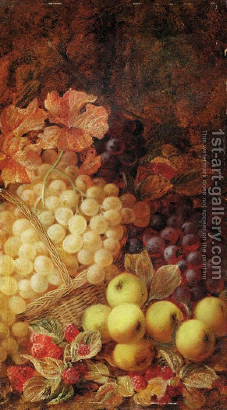 A basket of fruit by Hendrik Lens - Reproduction Oil Painting