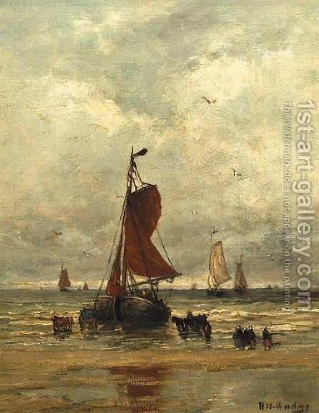 Au bord de la mer by Hendrik Willem Mesdag - Reproduction Oil Painting