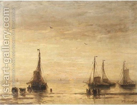 Soleil couchant by Hendrik Willem Mesdag - Reproduction Oil Painting