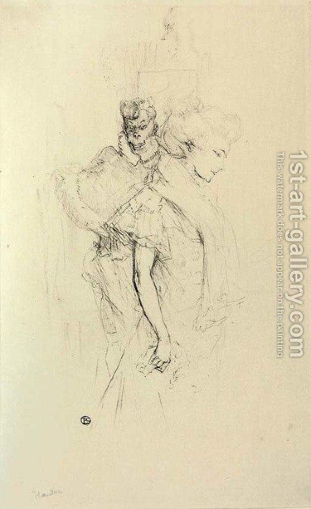Blanche et Noire by Toulouse-Lautrec - Reproduction Oil Painting