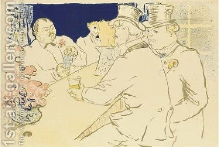 Irish and American Bar, Rue Royale - The Chap Book by Toulouse-Lautrec - Reproduction Oil Painting