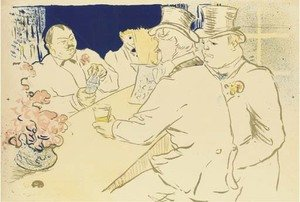 Reproduction oil paintings - Toulouse-Lautrec - Irish and American Bar, Rue Royale - The Chap Book
