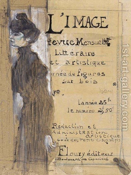 L'Image--Marthe Mellot debout de profil by Toulouse-Lautrec - Reproduction Oil Painting