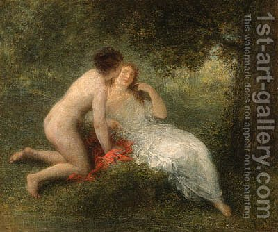 Baigneuses (La confidence) by Ignace Henri Jean Fantin-Latour - Reproduction Oil Painting