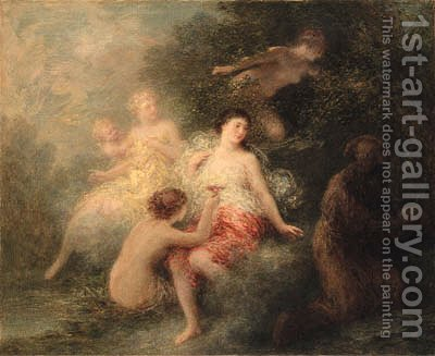 The Temptation of Saint Anthony by Ignace Henri Jean Fantin-Latour - Reproduction Oil Painting