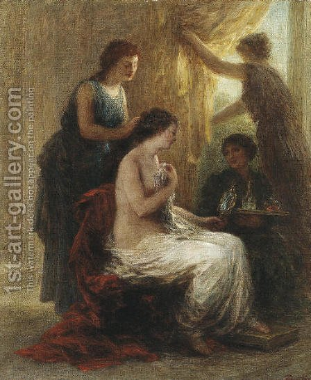 La toilette antique by Ignace Henri Jean Fantin-Latour - Reproduction Oil Painting