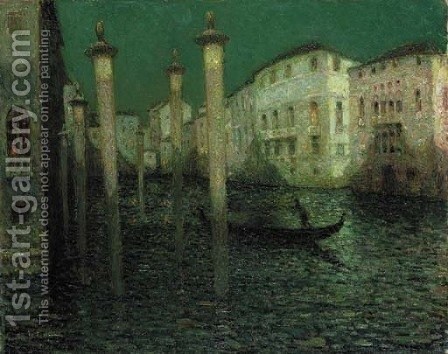 Le Grand Canal, Venise by Henri Eugene Augustin Le Sidaner - Reproduction Oil Painting