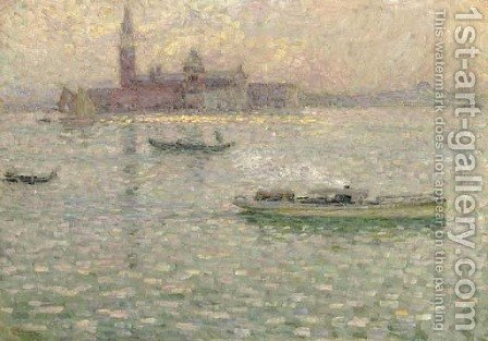 San Giorgio Maggiore, Venise by Henri Eugene Augustin Le Sidaner - Reproduction Oil Painting