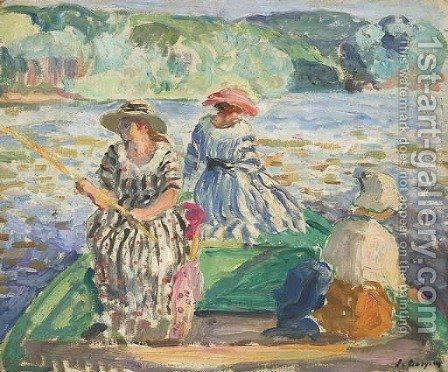 La partie de pache by Henri Lebasque - Reproduction Oil Painting
