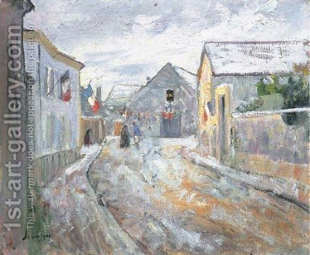 La rue pavoisee by Henri Lebasque - Reproduction Oil Painting