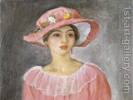 Le chapeau rose by Henri Lebasque - Reproduction Oil Painting
