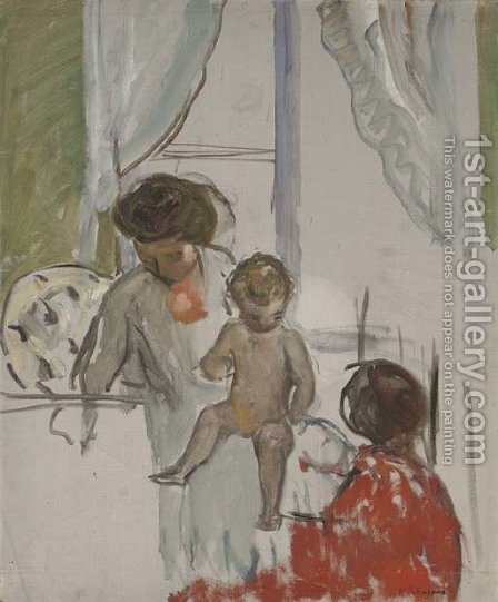 Mere et enfant by Henri Lebasque - Reproduction Oil Painting