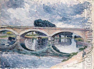 Pont de la Marne prs de Lagny (Bridge of the Marne near Lagny) by Henri Lebasque - Reproduction Oil Painting