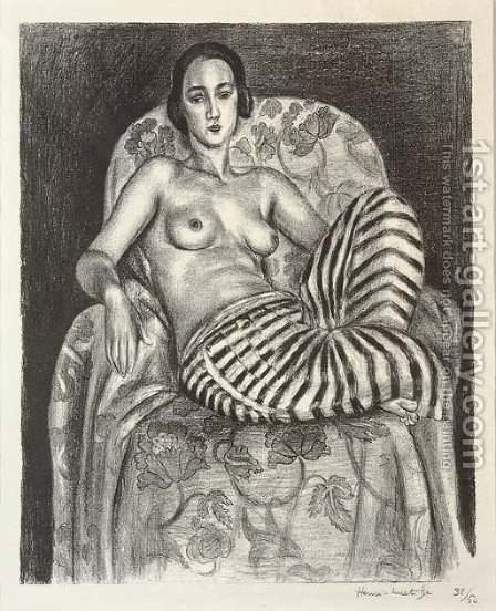 Grande Odalisque a la Culotte bayadere by Henri Matisse - Reproduction Oil Painting