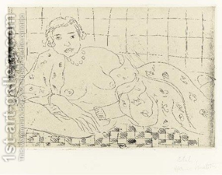 Nu couche, Sol en Damier by Henri Matisse - Reproduction Oil Painting