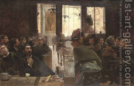La brasserie by Henri Patrice Dillon - Reproduction Oil Painting
