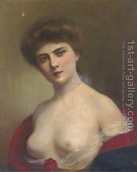 A young beauty 2 by H. Rondel - Reproduction Oil Painting
