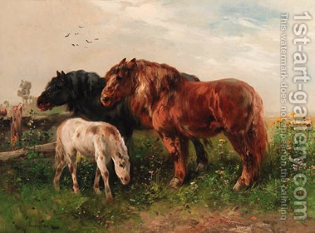 Horses by Henri Schouten - Reproduction Oil Painting