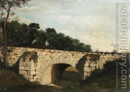 The old bridge by Henri-Joseph Harpignies - Reproduction Oil Painting