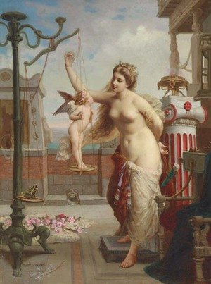Reproduction oil paintings - Henri Pierre Picou - Weighing Cupid