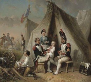 In Napoleon's camp awarding a medal