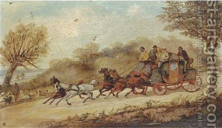 The York to London coach by Henry Thomas Alken - Reproduction Oil Painting