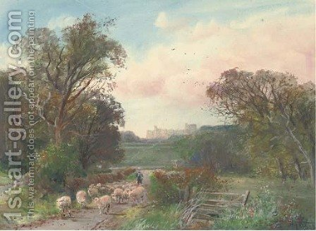 Windsor Castle from the Great Park by Henry Charles Fox - Reproduction Oil Painting